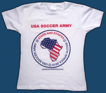 Mens USA Soccer Army T-Shirt Large Example